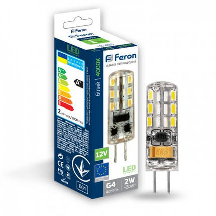 Светодиодная лампа FERON LB-420 2W G4 4000K, фото 2
