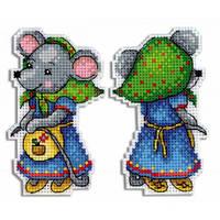 Набор для вышивки крестом МП Студия   Р-473 Мышка-норушка