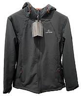 F1-00588, Куртка женская COASTGUARD, серый-терракотовый
