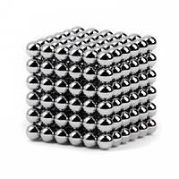 Неокуб 5 мм. - магнитные шарики, цвет - серебро