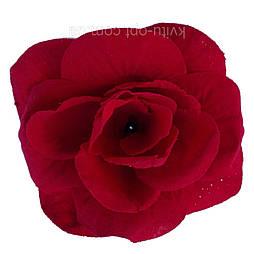 Роза бархат красная 13см (40 шт в уп)