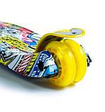Самокат трехколесный детский Maxi светящиеся колеса принт Inscription, фото 3