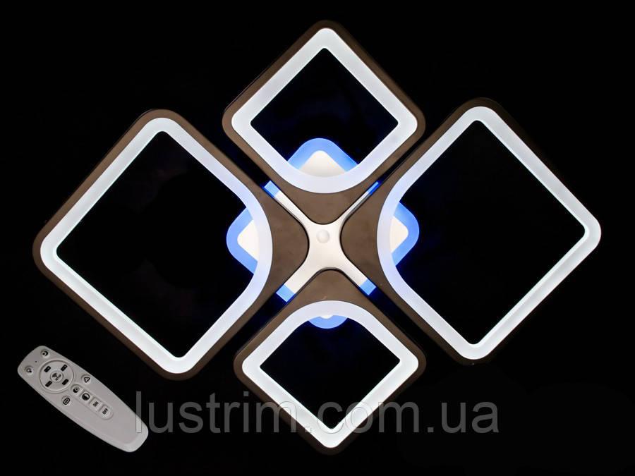Светодиодная LED люстра с димером и цветной подсветкой 100W