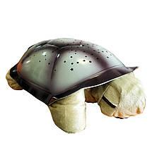 Нічник-проектор зоряного неба, світильник Черепаха, зі звуком, колір - хакі, фото 2