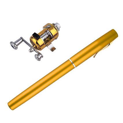 Удочка ручка, телескопическая, Fishing rod in pen case, с катушкой, леской, блесной, фото 2