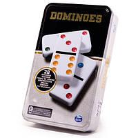 Настільна гра Доміно кольорове (в жерстяній коробці) Spin Master (SM98405/6033156)