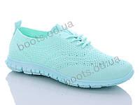 """Кроссовки летние женские """"Girnaive"""" #AB33-4. р-р 36-41. Цвет зеленый. Оптом"""