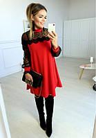 Нарядное женское платье люрекс + сетка и кружево свободное