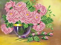 Схема для вышивки бисером Изящные розы РКП-409