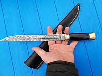 Нож охотничий  пластунский   из дамасской стали  С