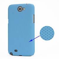 Чехол перфорированный на Samsung Galaxy Note 2 II N7100, голубой