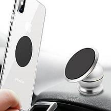 Магнитный автомобильный держатель для телефона Mobile Bracket - серебристый, фото 3