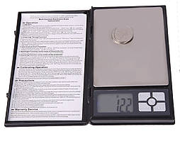 Карманные ювелирные электронные весы в виде книжки 0,01-2000 гр MH048 (1108-2)