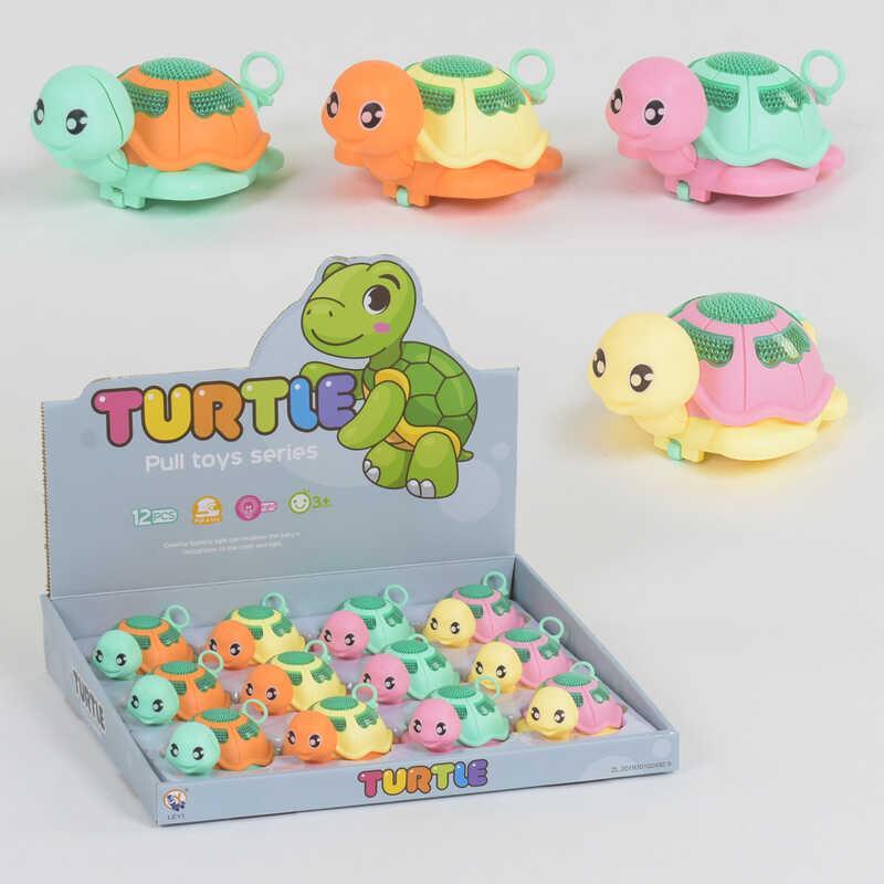 Заводные игрушки Черепашки LY 2226 A-1 (30/2) подсветка, ЦЕНА ЗА 12 ШТУК В БЛОКЕ