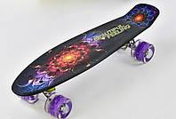 Скейт F 8740 Best Board, доска 55 см, колёса PU, светятся
