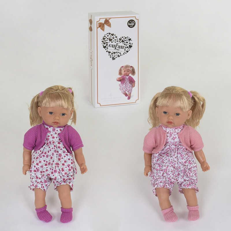 Кукла мягкотелая 00199-1 (18/2) 2 вида, 42 см, звуковые эффекты, в коробке