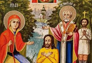 Икона Явление Тихвинской Богородицы Пономарю Георгию 19 век, фото 3