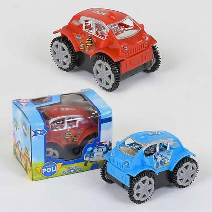 "Машинка-перевертыш GS 108 ""Поли"" (360) 2 цвета, на батарейке, в коробке"