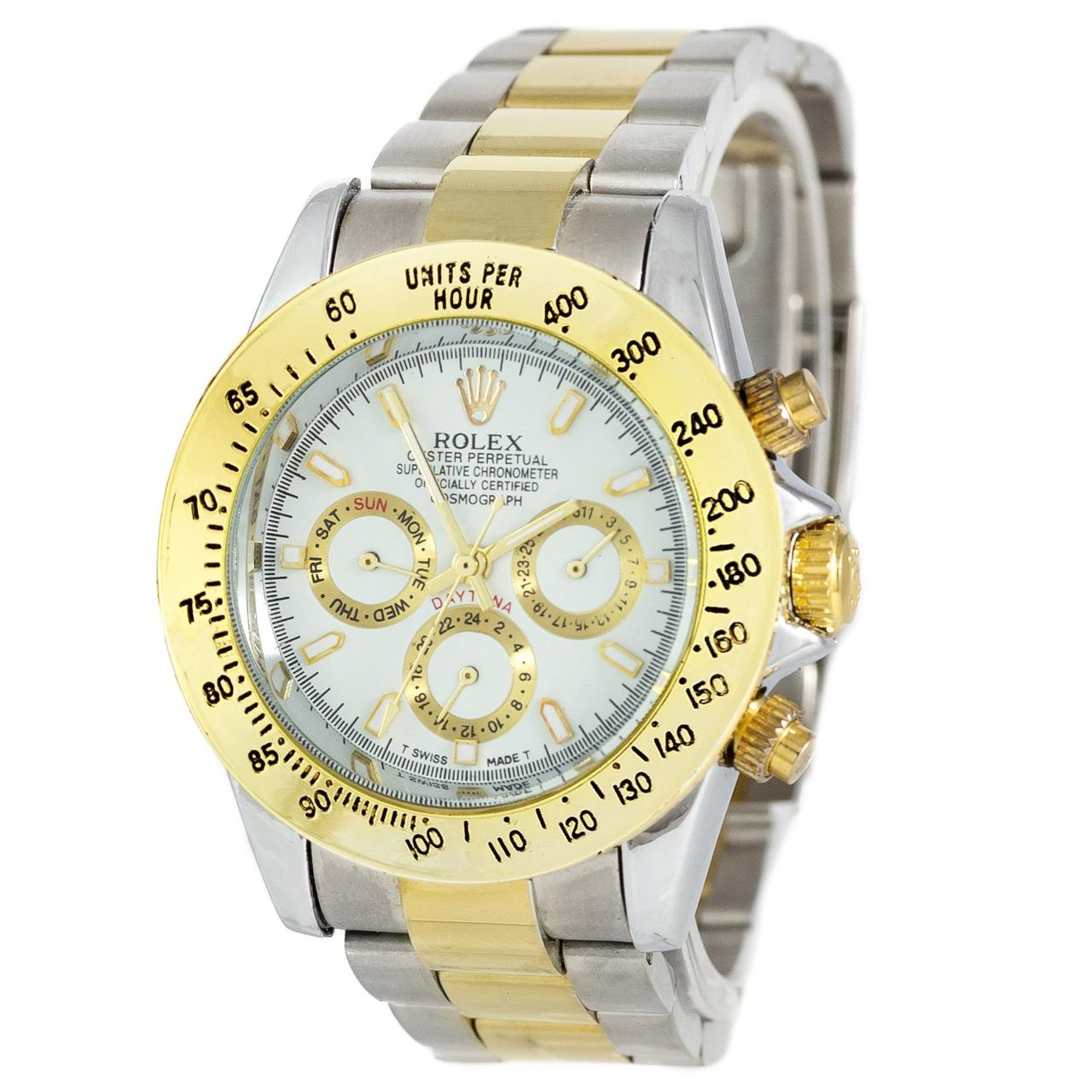 Rolex Daytona AA Men Silver-Gold-White