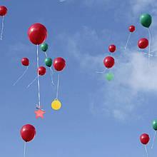 Грузики для воздушных шаров 8 гр ассорти набор 5 шт