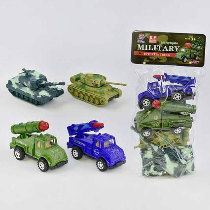 Набор  военной техники 8624 (72/2) 4 штуки в кульке