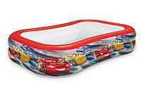 Детский надувной бассейн Intex 57478 «Тачки» (262*175*56 см)