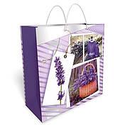 Бумажный подарочный пакет большой квадрат 32.3*32.3*14см №34,067 СП