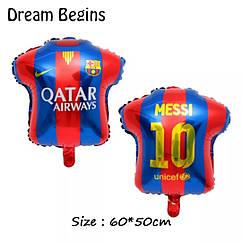 Фольгированный шар футболка  Варселона 60×50 см.