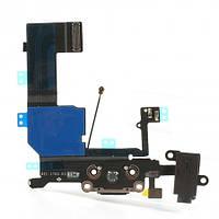 Порт зарядки iPhone 5C (Black) ORIGINAL ремонт, запчасти, замена