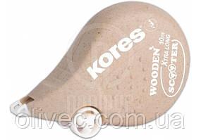 """Корректор-лента деревянный """"Kores"""" 4,2 мм. х 10 м."""