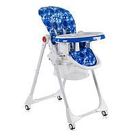 """Детский стульчик для кормления JOY К-22810 """"""""Космос"""""""" цвет бело-синий"""