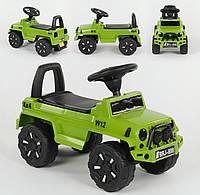 Машина-толокар 808 G-8001 JOY, цвет зеленый, русское озвучивание, световые эффекты, багажник