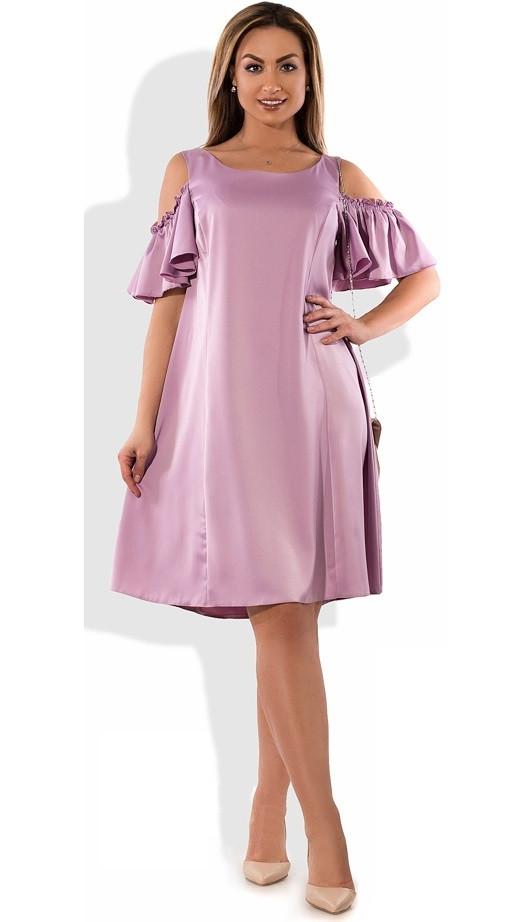 Платье женское мини с открытыми плечами размеры от XL ПБ-369