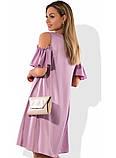 Платье женское мини с открытыми плечами размеры от XL ПБ-369, фото 2