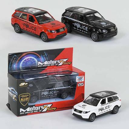 Полицейская машина К 135 А-22 (240) 3 цвета, металлическая, в коробке