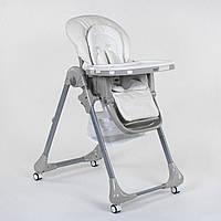 Стульчик для кормления Toti CB-4018, мягкий PU, мягкий вкладыш, 4 колеса, съемный столик