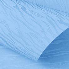 Рулонные шторы Lazur. Тканевые ролеты Лазурь (Ван Гог) Голубой 2074, 112.5