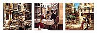 Картины по номерам 50х150 см. Триптих Летняя романтика