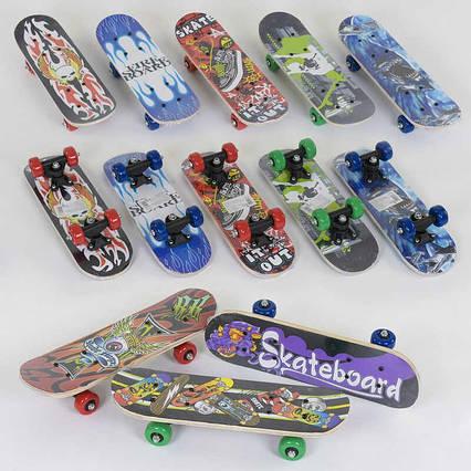 Скейт F 22223 (24) 8 видов, колесо d=5 cm, PVC, длина доски=43см