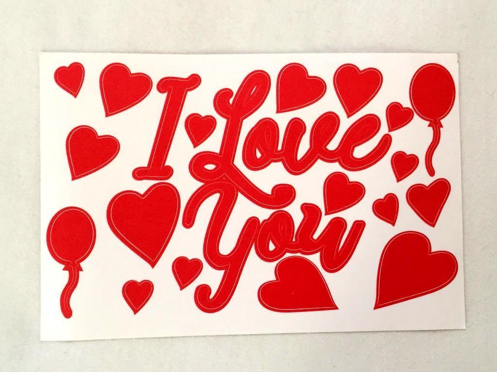 Наклейка на шар бобо с надписью I Love you