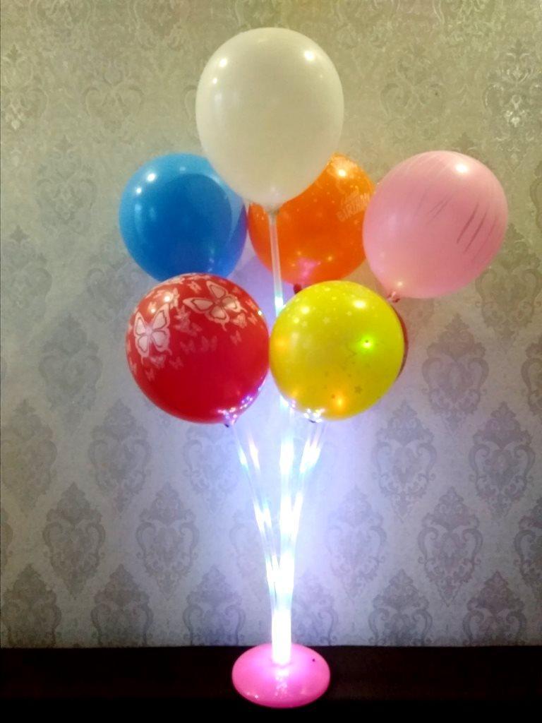 Подставка держатель светящийся для воздушных шаров