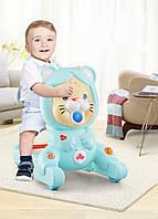 Каталка-ходунки 2в1 Fengda FD-6818 Первые шаги Голубой