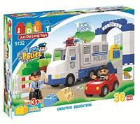 """Конструктор JDLT 5132 (аналог Lego Duplo) """"Полицейский участок"""", 36 деталей"""