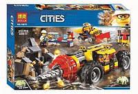"""Конструктор Bela 10875 """"Тяжелый горный бур"""" (аналог Lego City 60186), 312 деталей"""