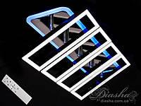 Потолочная люстра с диммером и LED подсветкой, цвет чёрный хром, 110W