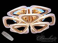 Потолочная люстра с диммером и LED подсветкой, цвет золото, 110W A8118/6+3G LED 3color dimmer