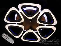 Потолочная люстра с диммером и LED подсветкой, 80W A8118/6CF LED 3color dimmer (белая,черная,коричневая), фото 1