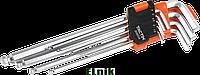 Набор шестигранных ключей 1, 5-10мм с шаровым наконечником XL 9шт, TACTIX [INSKLKLHX09000BXT0]