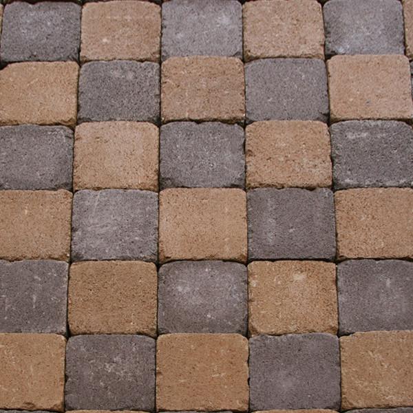 Обработанная тротуарная плитка Квадрат Антик