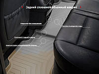 Коврики в салон Audi A6, S6 (C7) 2012 - 2018 / A7, S7 (4GA, 4GF) 2012 - 2018, какао, резиновые (WeatherTech, W301CO) - второй ряд